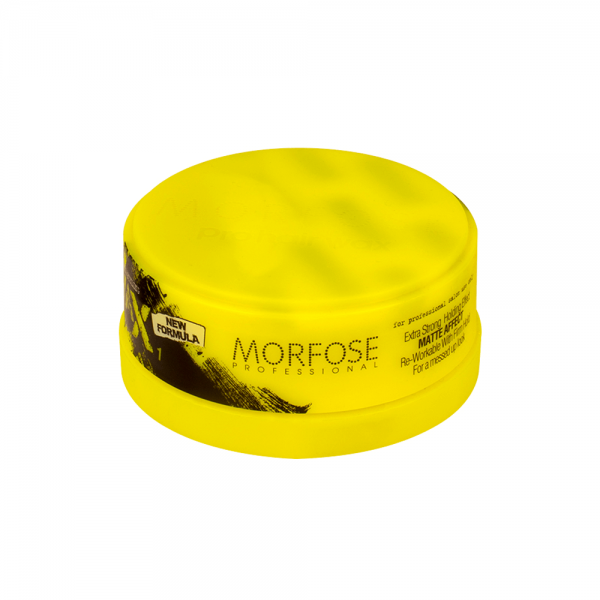 Morfose - Matte Stying Wax - Extra Strong - Gelb - 150 ml