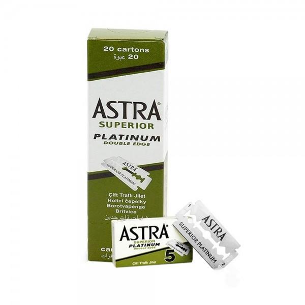 Gillette Astra Superior Platinum Double Rasierklingen (100 Stück)
