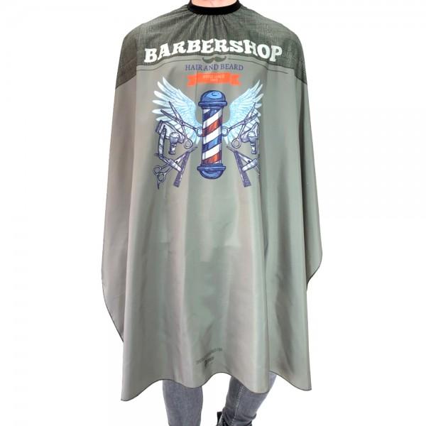 Detreu Haarschneide Umhang - Grey Barber Pole