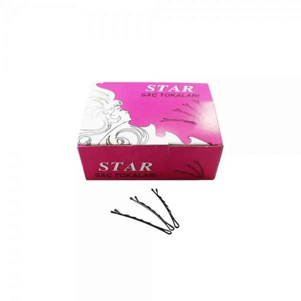 Star Haarklammern No 5 - Schwarz (5 cm / 500 g)